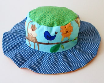 New baby sun hat, gender neutral wide brim hat for babies, newborns, infants