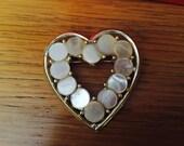 heart brooch pin