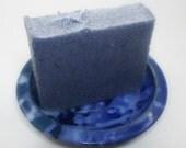 Sea Salt Soap - Unscented Vegan Salt Soap - blue