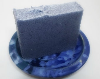 Sea Salt Soap - Unscented Vegan Salt Soap - blue