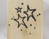 Stars Denami Design Rubber Stamp #AA193