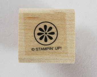 Stampin Up! - Flower in Circle Rubber Stamp #RS136