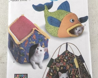 Simplicity Crafts 9004 Cat Beds Sewing Pattern Longia Miller UNCUT