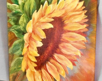 Sunflower Study Original Painting