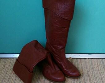 Dexter 9 1/2 oxblood boots