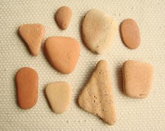 9 Piece Sampler Pack -- Terracotta Tile Shards -- Pendant and Large Pendant Sizes (TL158) Mediterranean Beach Tiles, Sea tiles