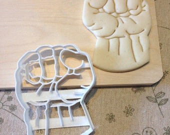 Hulk Fist Cookie Cutter - Fondant Icing Cake Cupcake Topper Tool Iced Sugar Cookies Boys Birthday Party Favors Comic Con Avengers Superhero