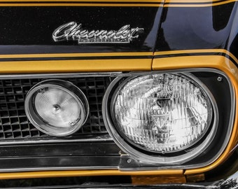 1967 Chevrolet Camaro Car Photography, Automotive, Auto Dealer, Muscle, Sports Car, Mechanic, Boys Room, Garage, Dealership Art