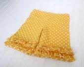 Yellow Polka Dot Knit Ruffle Shorties...Ready to Ship
