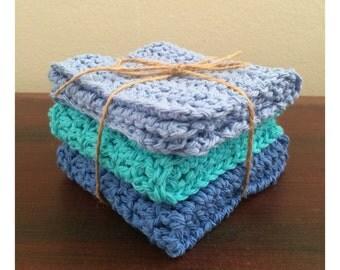 Cotton Fiber Washcloths (Set of 3)