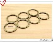 Lot of 25 , 28mm anti brass Split  circle Key rings , Key chains D79