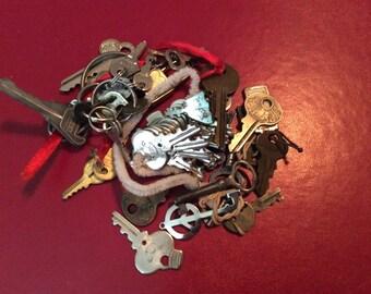 Repurpose Key  Salvage Necklace lot destash harvest