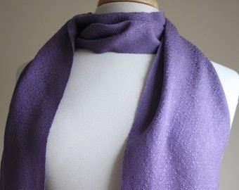 Lavender diamond lace handwoven tencel scarf