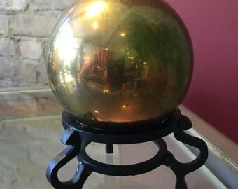 Brass Ball on Iron Stand