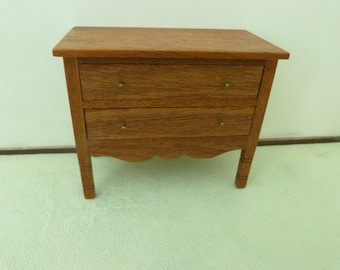 Dollhouse miniature chest with drawers  - 12th scale OOAK
