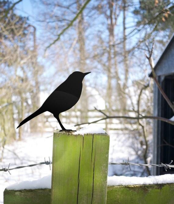 Garden Bird, Metal Bird Yard Ornament, Gardener Gift