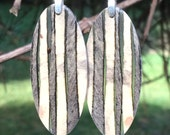 Amazing Multicolor Super Light Weight Buckeye Burl Wood And Resin Earrings