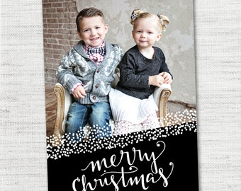 Custom Photo Christmas Card - Flurries