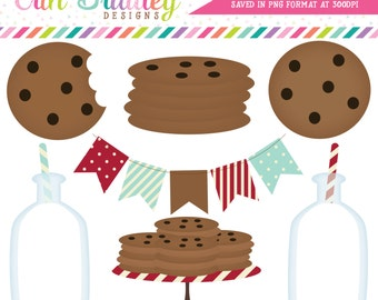 Milk and Cookies Clipart Clip Art Personal & Commercial Use