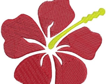SALE 65% off Hawaiian Hibiscus Flower Machine Embroidery Design 4x4 and 5x7 Instant Download