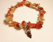 Birth Power Bracelet. Birth goddess and carnelian. Mother blessing, blessingway, doula, midwife, childbirth)