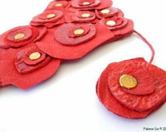Leather necklace choker. Colier en cuir. Collar de cuero cc2