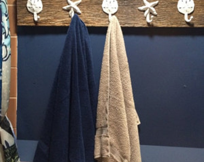 barn wood home decor as seen on best-deal.com bathroom towel holder coat rack foyer scarf organizer mudroom entry hall tree rustic farmhouse
