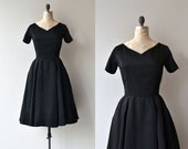 Little Miss Perfect dress | vintage 1950s dress | black 50s dress