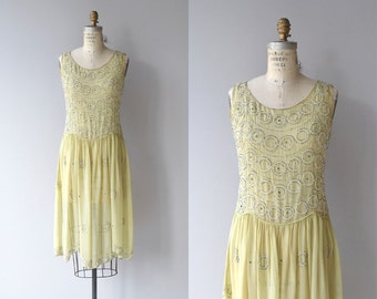 Abbellimento dress | vintage silk 1920s dress | beaded 20s dress