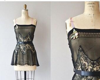 25% OFF SALE Trop Belle nightie | vintage 1920s lingerie | 20s lace nightie