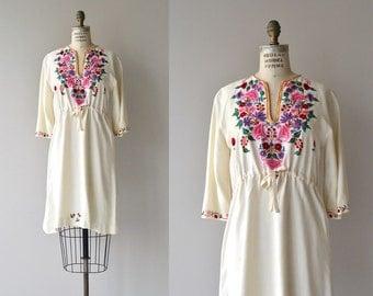 Paidushko tunic dress | 1920s embroidered dress | vintage 20s folk dress