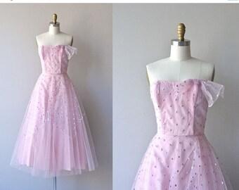 25% OFF.... Best Wishes dress | vintage 1950s dress • polka dot 50s prom dress