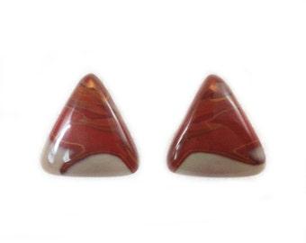 Noreena Jasper Triangular Matched Earring Cabochons