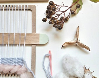 DIY Weaving Kit / Weaving loom kit for hand weaving wall art