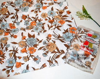 Vintage Pillowcases Earthy Flowers