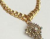 Aurora Borealis Starburst Statement Necklace -Heirloom Collection