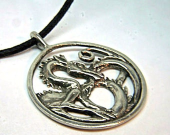 Dragon Pendant Medallion has an intricate dragon design with Celtic and Viking influences.