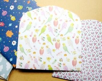 Set of 3 Choose Your Pattern Handmade Envelope, Gift card holders, cute design