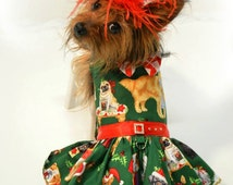 Dog Dress, harness Dog Dress, Christmas Dog Dress, Dog Breeds