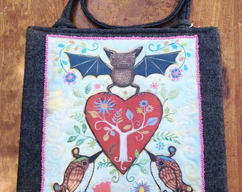 Bat heart bag