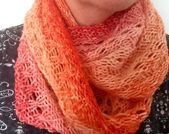 FREE KNITTING PATTERN - Delysia Cowl Neck Scarf