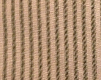 6 5/8 yards 55 wide vertical striped cotton drapery /  costume / dressmaking fabric