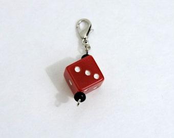 Red Die Progress Keeper (Stitch Marker Set)