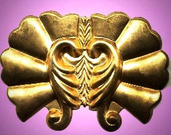 Vintage Huge Victorian Winged Brass Stamping K4L