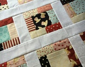 Quilt Top - Hey Cupcake Unfinished quilt - by Dan DiPaolo - bright and fun 38 in x 38 in