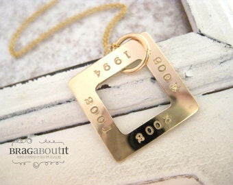 Personalized Necklace - Personalized Jewelry . Hand Stamped Jewelry - Personalized Jewelry - Brag About It - Years To Remember