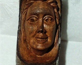 Female Wood Spirit hand carved