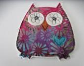 Applique Owl Embellishment, Owl Applique, Scrapbook Embellishment, Fabric Owl, Fabric Owl Patch, Free Motion Applique, Applique for Kids