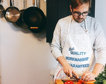 Screen Printed Canvas Work Apron Made in USA