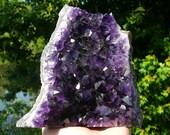 Gorgeous Uruguayan Amethyst Cluster #11~ AAA GRADE, Crystal Healing, Metaphysical, High Quality, Deep Purple, Genuine Amethyst Cluster, Yoga